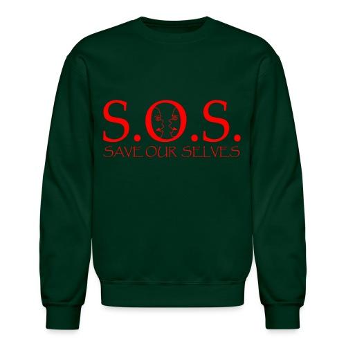 sos red - Unisex Crewneck Sweatshirt