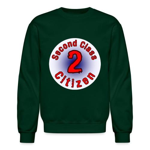 2nd Class Citizen Logo (Light) - Unisex Crewneck Sweatshirt