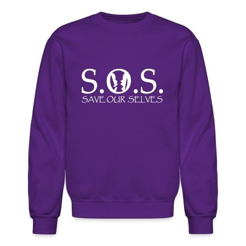 SOS WHITE4 - Unisex Crewneck Sweatshirt