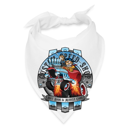 Custom Speed Shop Hot Rods and Muscle Cars Illustr - Bandana