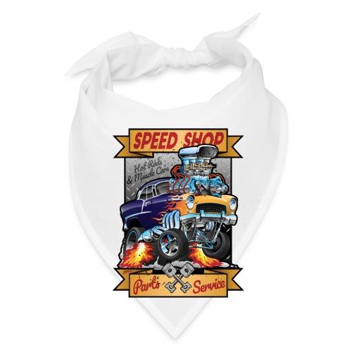 Speed Shop Hot Rod Muscle Car Cartoon Illustration - Bandana