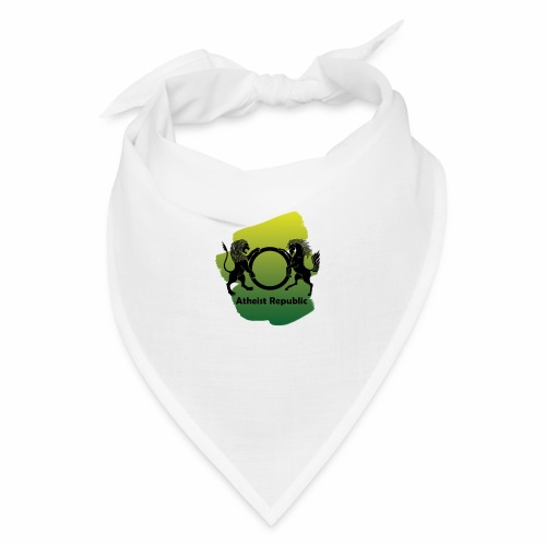 Atheist Republic Logo - Yellow & Green Paint - Bandana
