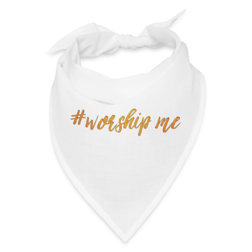 #worshipme in gold - Bandana