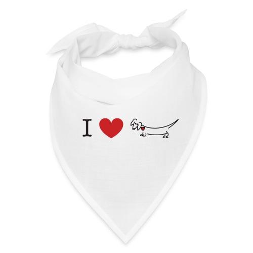 I love Dachshund - Bandana