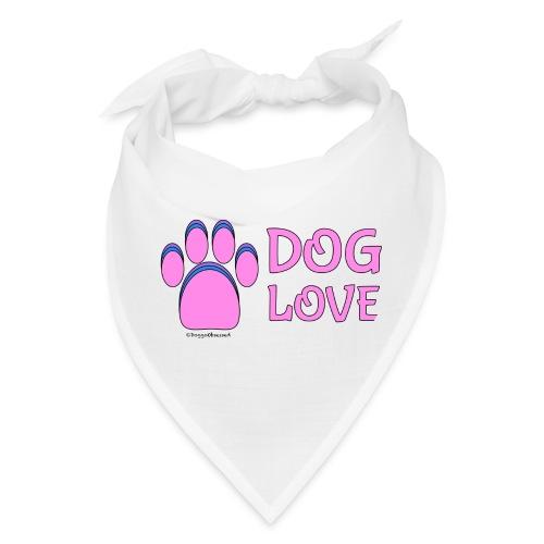 Pink Dog paw print Dog Love - Bandana