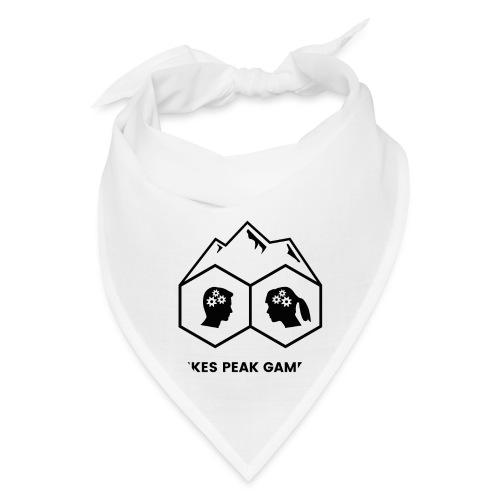 Pikes Peak Gamers Logo (Solid White) - Bandana