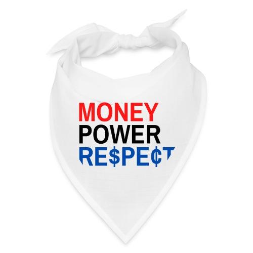 Money Power Respect (Red Black & Blue with $ & ¢) - Bandana