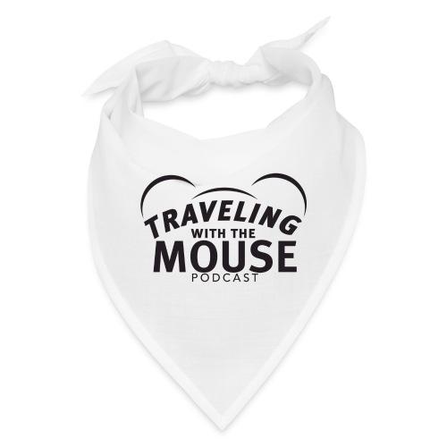 TravelingWithTheMouse logo transparent blk LG Crop - Bandana
