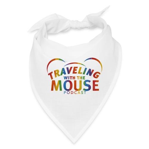 TravelingWithTheMouse logo transparent Rainbow Cr - Bandana
