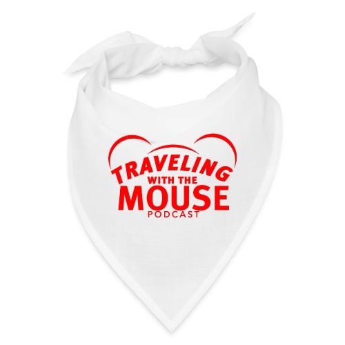 TravelingWithTheMouse logo transparent RED Cropped - Bandana