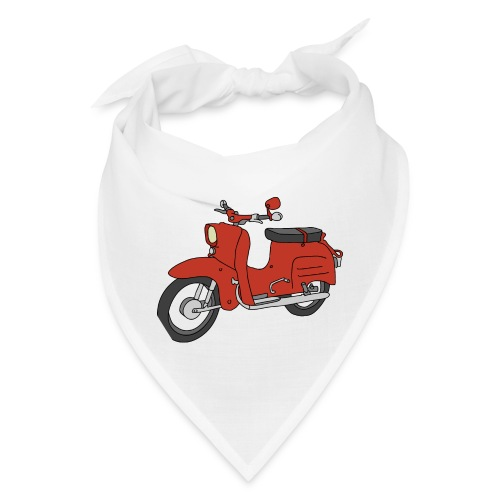 Schwalbe, ibiza-red scooter from GDR - Bandana