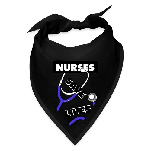 Nurses save lives purple - Bandana