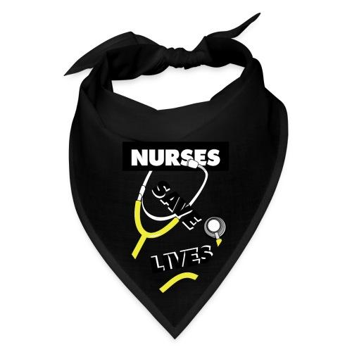 Nurses save lives yellow - Bandana