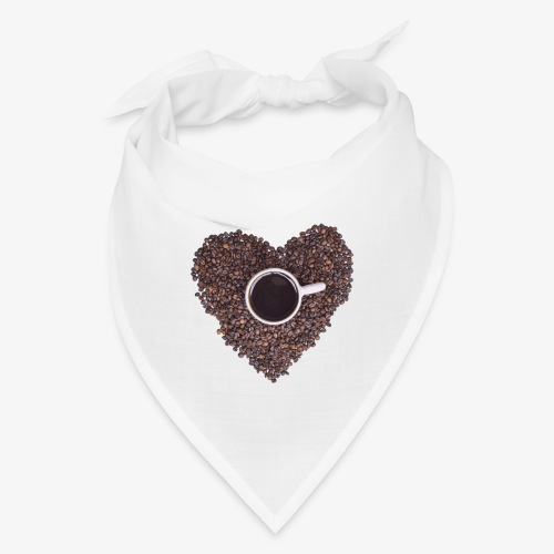 I Heart Coffee Black/White Mug - Bandana