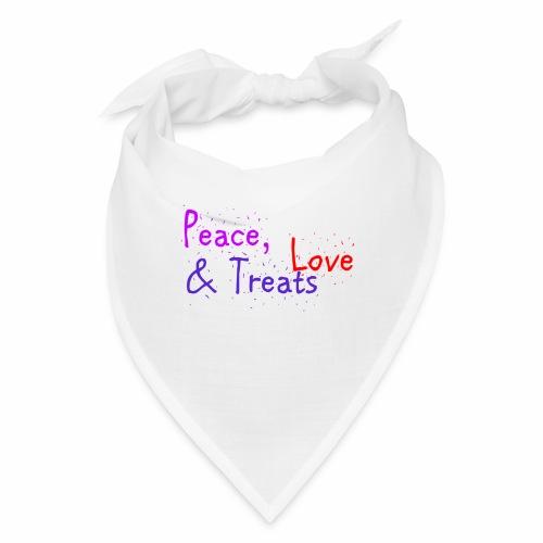 Peace, Love & Treats - Bandana
