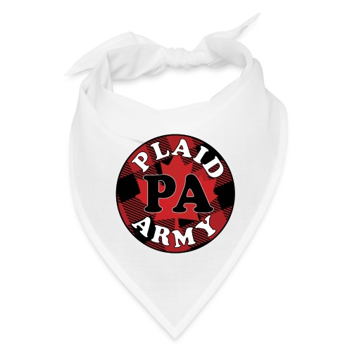 plaid army round - Bandana