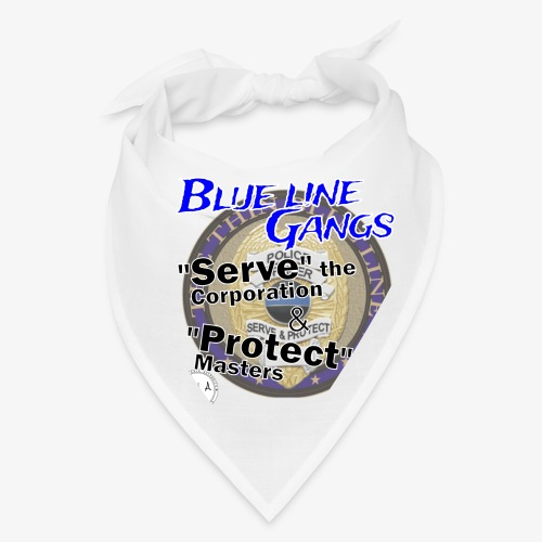 Thin Blue Line - To Serve and Protect - Bandana