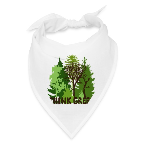 EARTHDAYCONTEST Earth Day Think Green forest trees - Bandana
