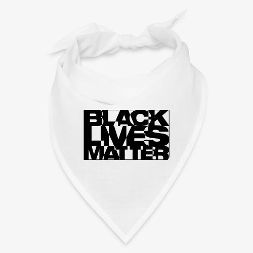 Black Live Matter Chaotic Typography - Bandana