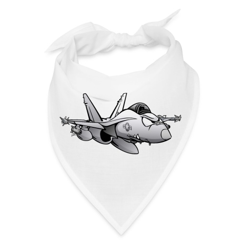 Military Fighter Attack Jet Airplane Cartoon - Bandana