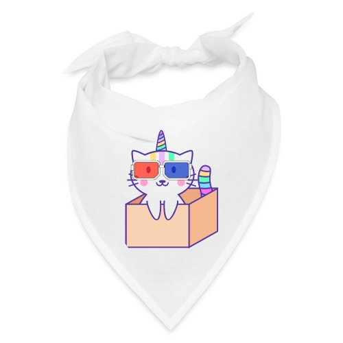 Unicorn cat with 3D glasses doing Vision Therapy! - Bandana
