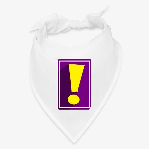 Purple Whee! Shadow Exclamation Point - Bandana