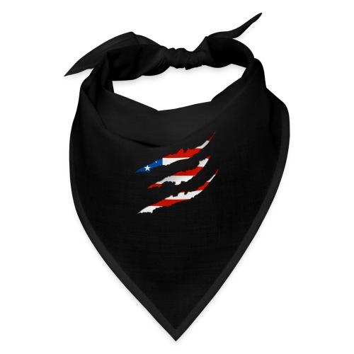 3D American Flag Claw Marks T-shirt for Men - Bandana