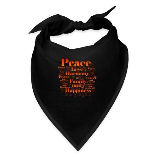 PEACE LOVE HARMONY - Bandana