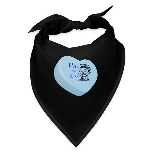 Pete the Cooler Candy Heart - blue - Bandana