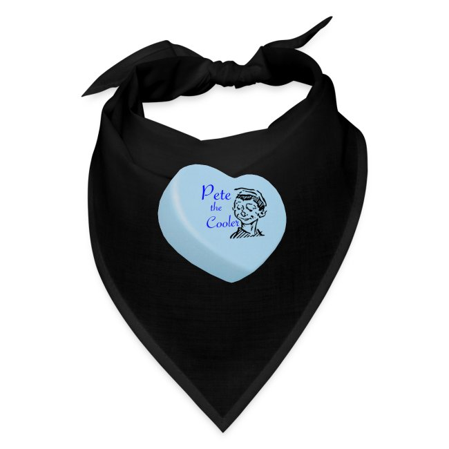 Pete the Cooler Candy Heart - blue