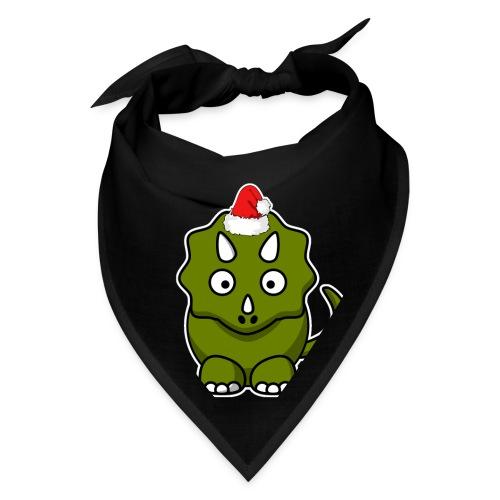 Happy Holidays Triceratops - Bandana