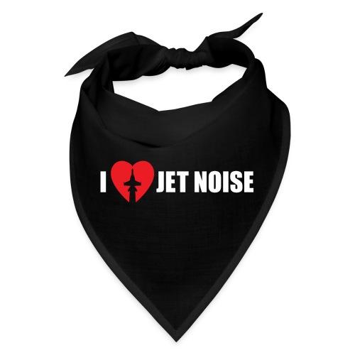 I Love Jet Noise Aviation Heart - Bandana