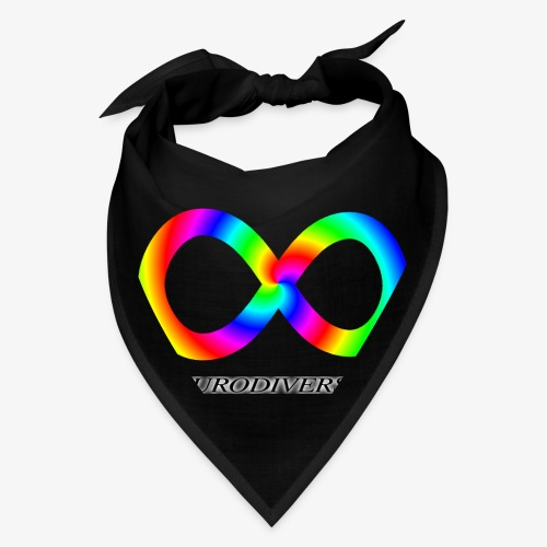 Neurodiversity with Rainbow swirl - Bandana