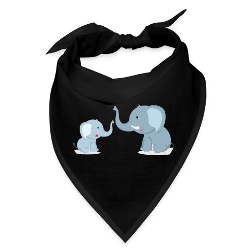 Father and Baby Son Elephant - Bandana