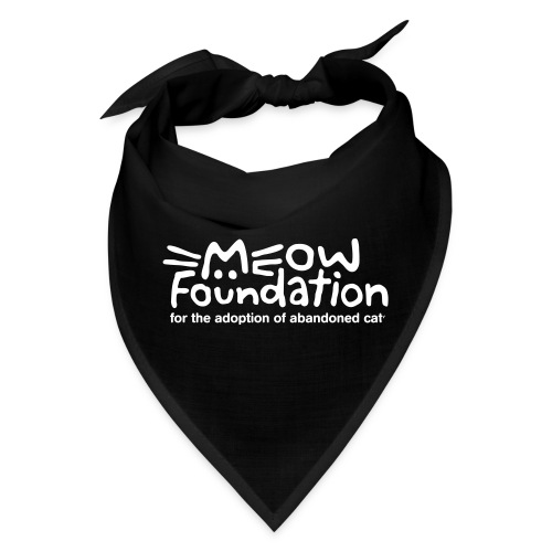 MEOW Foundation White Logo Tagline - Bandana