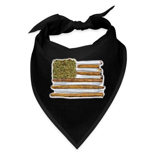 American Flag With Joint - Bandana