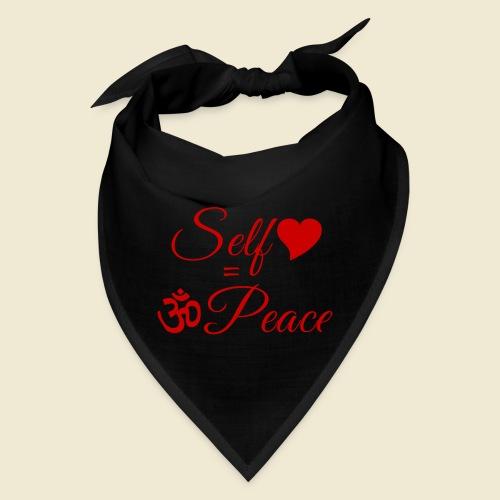 108-lSa Inspi-Quote-83.b Self-love = OM-Peace - Bandana