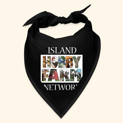 Island Hobby Farm White Logo - Bandana