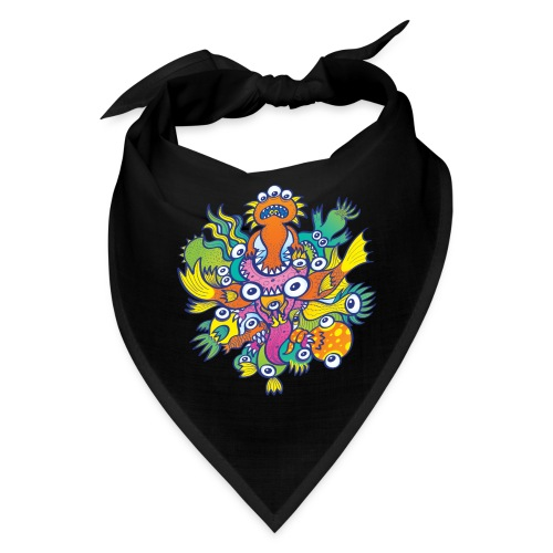Don't let this evil monster gobble our friend - Bandana
