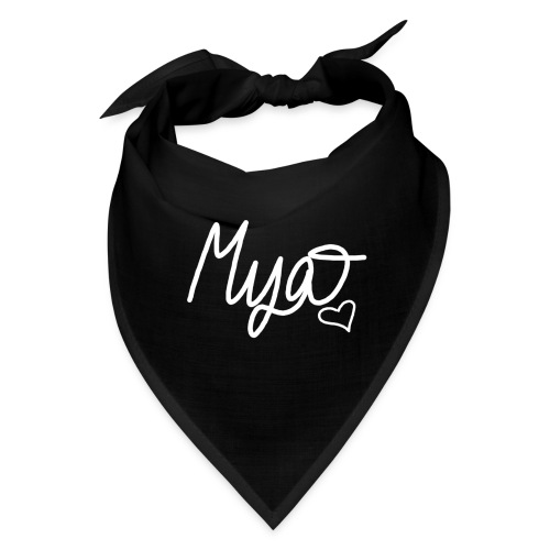 Mya, Signature Hand Drawn (White) - Bandana