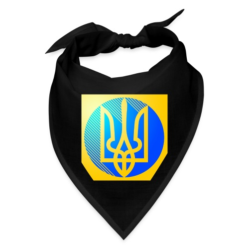 Blue and yellow Ukrainian trident for button pins - Bandana