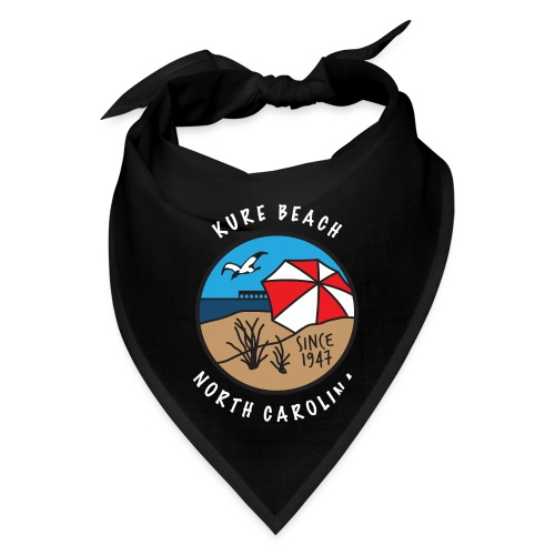 Kure Beach Day-White Lettering-Front Only - Bandana