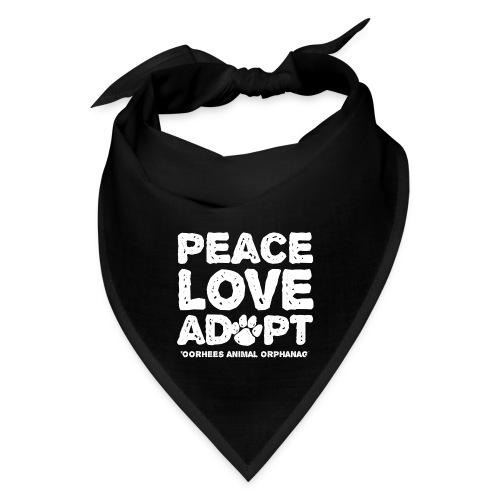Peace Love Adopt Front png - Bandana