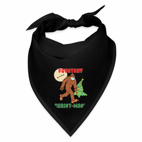 Bigfoot Squatchy Christmas Mask Social Distance. - Bandana