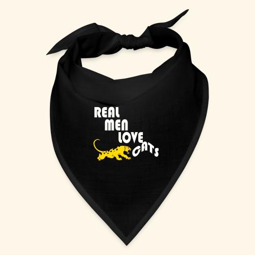 Real Men Love Cats T-Shirt for cat people tee - Bandana