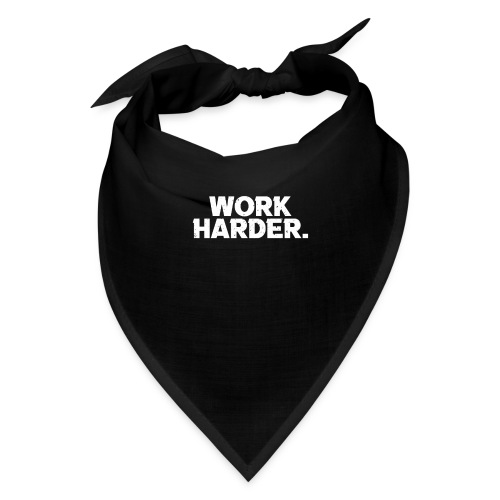 Work Harder distressed logo - Bandana