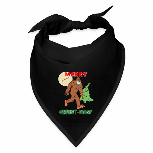 Merry Christmask Sasquatch Mask Social Distance. - Bandana