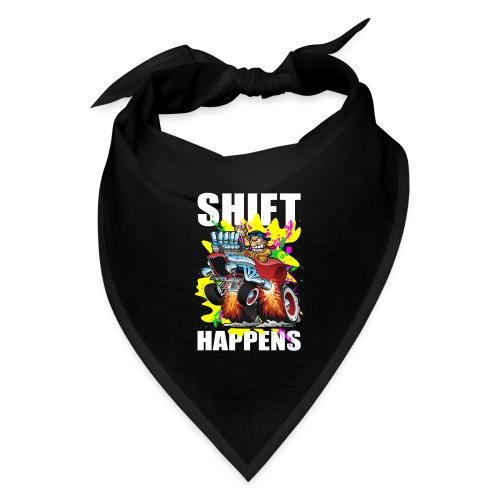Shift Happens Funny Hot Rod Car Cartoon - Bandana