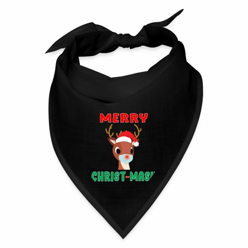 Merry Christmask Rudolph Red Nose Mask Reindeer. - Bandana