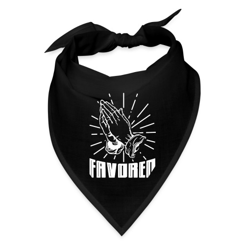 Favored - Alt. Design (White Letters) - Bandana